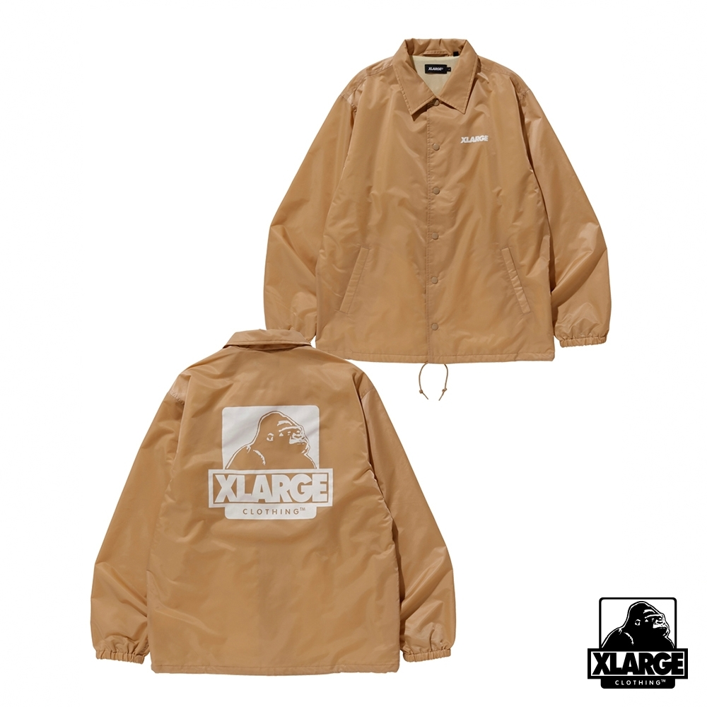 XLARGE OG PRINTED COACHES JACKET教練外套-米色