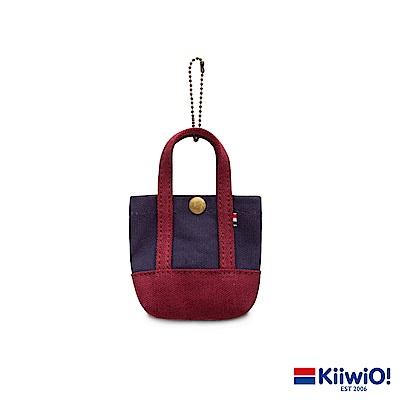 Kiiwi O! 經典造型迷你托特收納包 APRIL 紅/藍