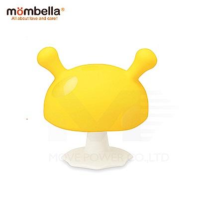 【任選】英國《mombella 》Q比小魔菇固齒器(黃色)