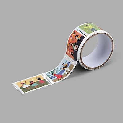 Dailylike 郵票造型紙膠帶(單捲)-10 歡樂派對