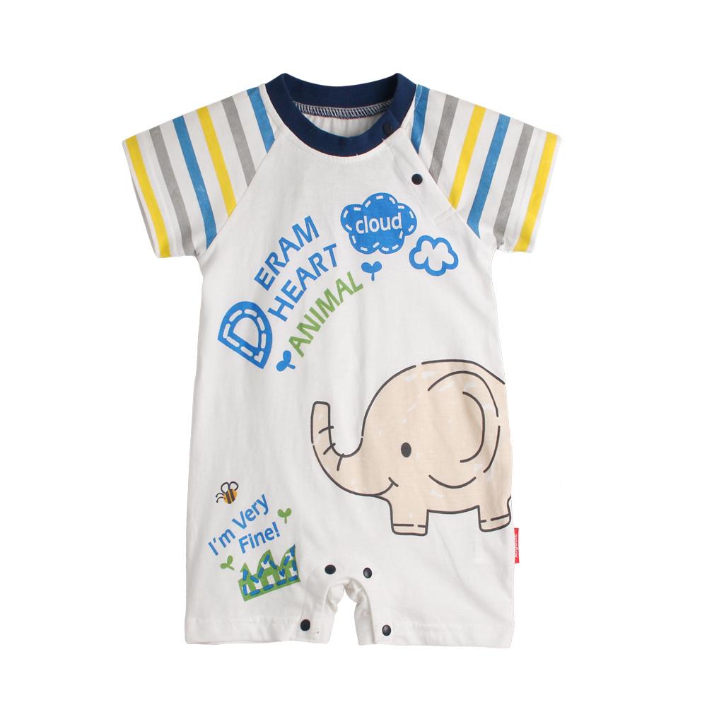 baby童衣 條紋插肩造型連體衣 90071 product image 1