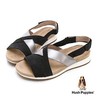 Hush Puppies Pepper 機能涼拖鞋-幻黑