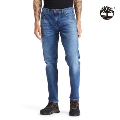 Timberland 男款都市洗舊色Tacoma Lake彈性牛仔褲|A2D2Z