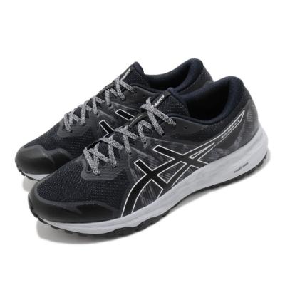 Asics 慢跑鞋 Gel Scram 6 運動 男鞋 亞瑟士 路跑 緩震 野跑鞋 亞瑟膠 黑 灰 1011A850020