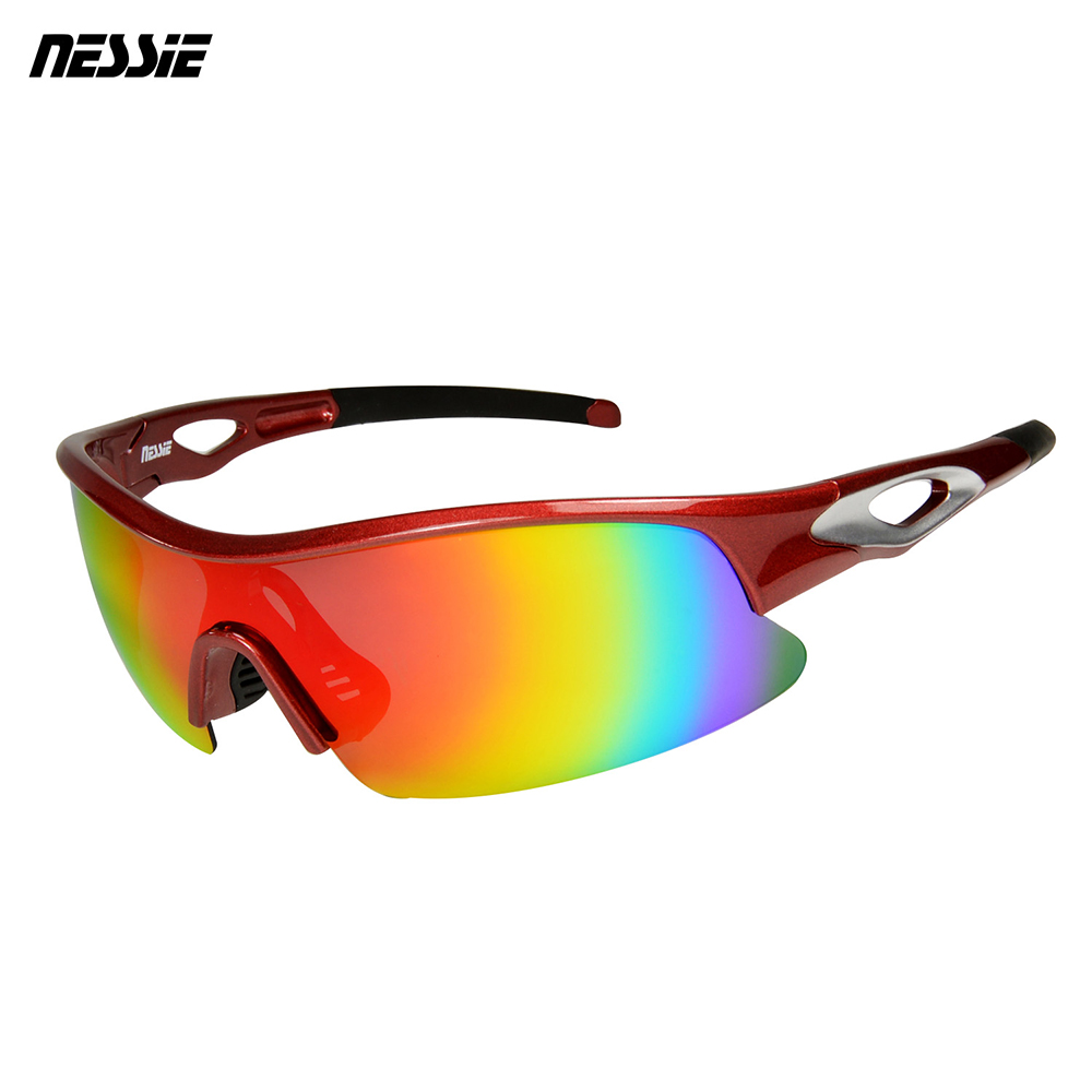 Nessie 尼斯眼鏡 專業運動偏光太陽眼鏡-競速紅