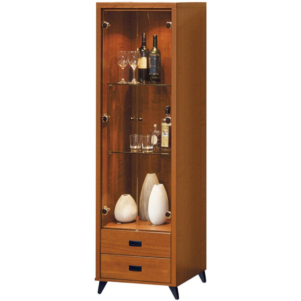 綠活居 克多朗時尚2尺美型實木展示櫃/收納櫃-60x38x182cm免組