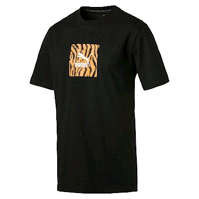 PUMA-男性流行系列Wild短袖T恤-黑色-歐規
