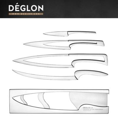Deglon MEETING 金屬四件組(萬用刀、主廚刀、片刀、水果刀)