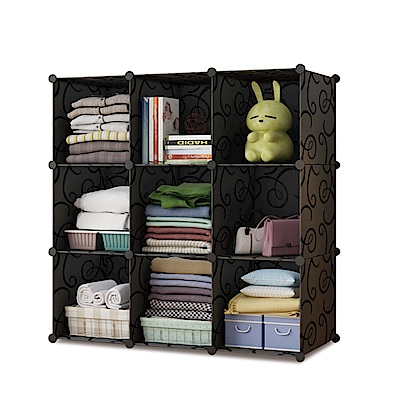 【Mr.Box】加大型9格收納櫃/置物櫃/書櫃-三色可選