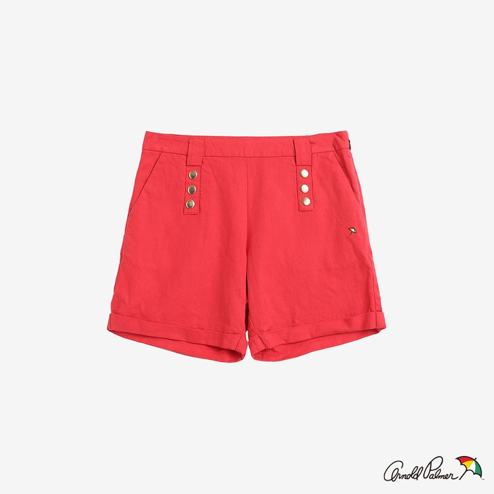 Arnold Palmer-女裝-棉麻短褲-紅