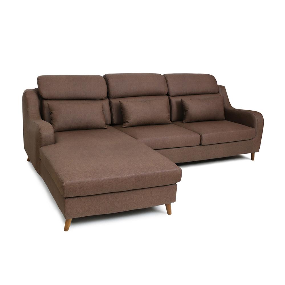 多瓦娜-馬其頓貓抓皮L型沙發/二色
