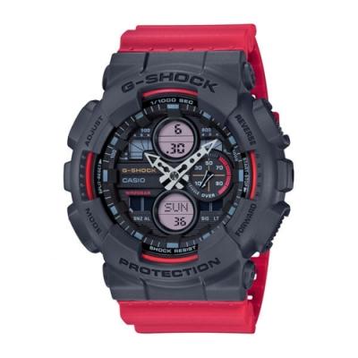CASIO卡西歐 G-SHOCK系列 復古手錶 (GA-140-4A)-紅/48.8mm
