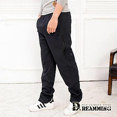Dreamming 功能型休閒防風防潑水厚刷毛鬆緊腰雪褲-共四色