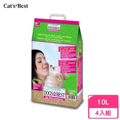 德國凱優DOG′S BEST-犬專用凝結木屑砂 4.3kg/10L 四包組