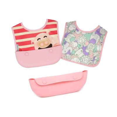 【MARCUS&MARCUS】動物樂園3合1大口袋旅行圍兜-粉紅豬