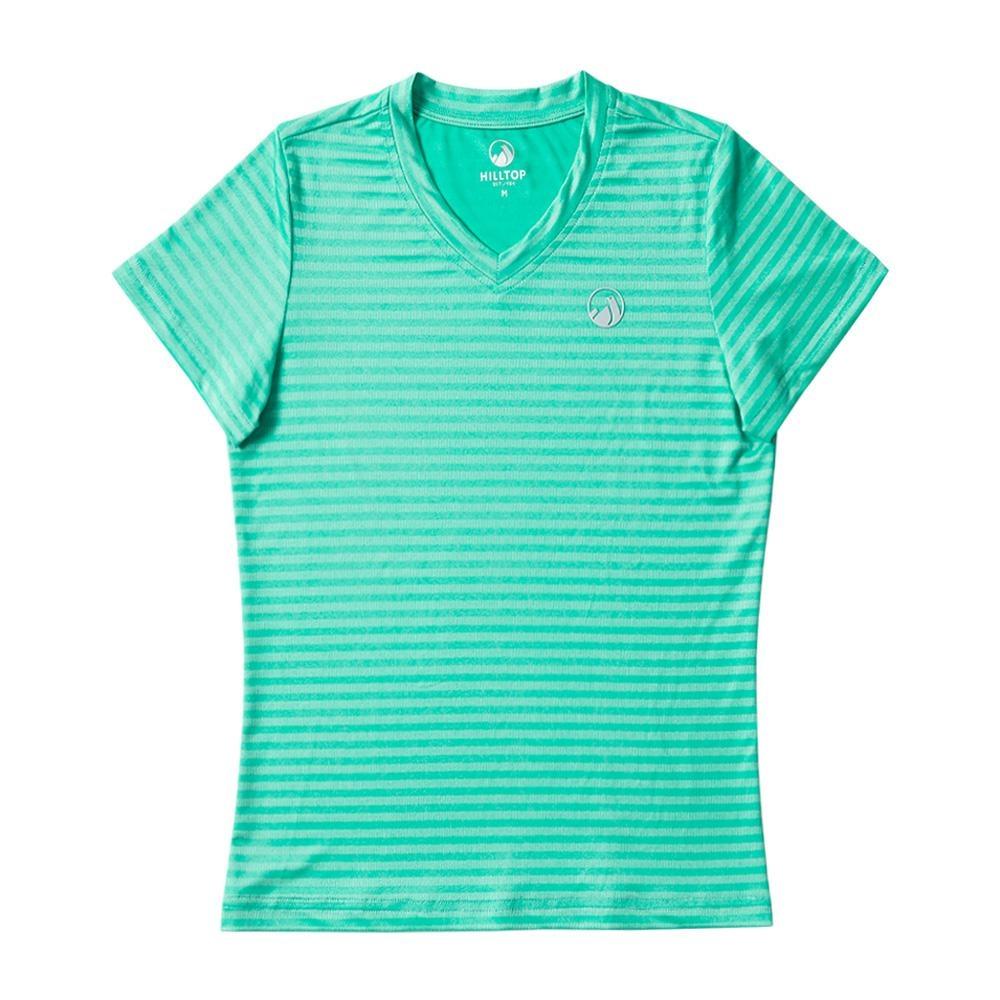 【hilltop山頂鳥】童款吸濕快乾抗UV彈性抗菌T恤S04C13淺綠