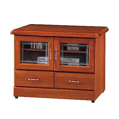 綠活居 莎曼珊2.8尺實木電視櫃/視聽櫃(二色可選)-84x45x64.5cm-免組