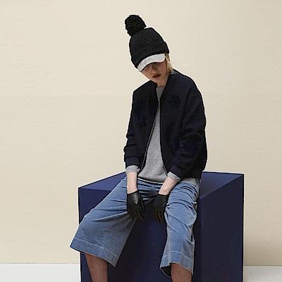 ICHE衣哲 時尚植絨低奢設計飛行棒球造型夾克外套-深藍