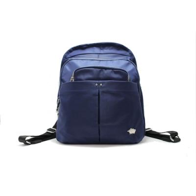 DRAKA 達卡 - 俐落雅致系列-多層次拉鍊後背包-藍