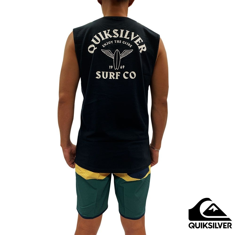 【 QUIKSILVER】ENJOY THE GLIDE MUSCLE 背心 黑色