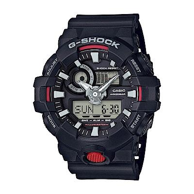 G-SHOCK 卡西歐突破創新 雙顯運動錶(GA-700-1A)-黑/53.4mm