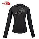 The North Face北面女款黑色吸濕透氣連帽長袖T恤|3RGQJK3