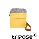 tripose 漫遊系列 岩紋x微皺尼龍護照斜背包 活力黃