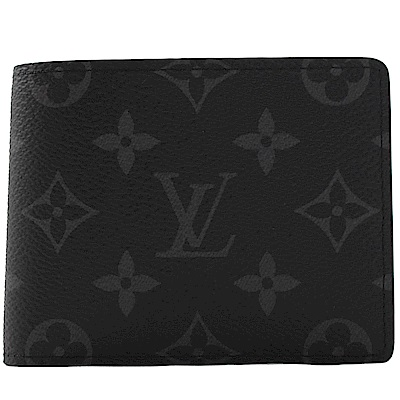 LV M62294 Slender黑灰花紋對開短夾