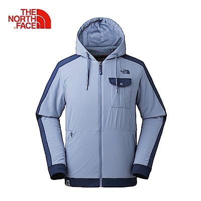 The North Face北面男款藍色防潑水保暖休閒外套