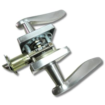 加安 LYWX203P 現代風系列通道鎖 60mm 磨砂銀 方套盤 水平把手鎖 水平鎖