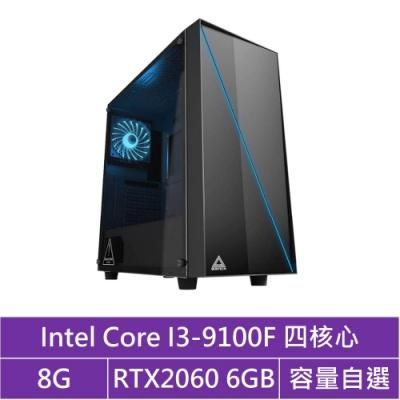 華碩B365平台[曜日鬥神]i3四核RTX2060獨顯電腦