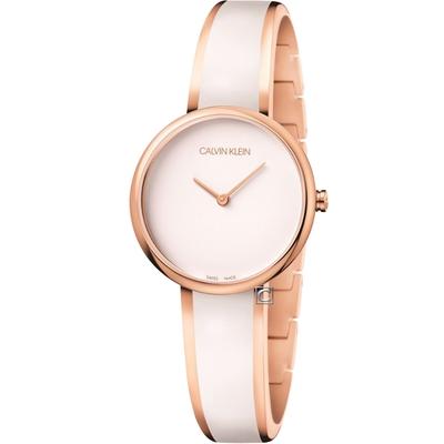 Calvin Klein Seduce誘惑時尚手環式腕錶(K4E2N616)