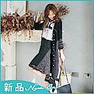IREAL【浪漫限定】雙口袋蕾絲A字短裙