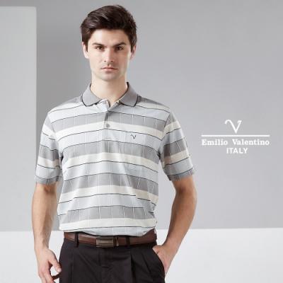 Emilio Valentino 范倫鐵諾時尚休閒舒適POLO衫_灰/黃(21-9V2806)