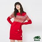 女裝ROOTS-費爾島刷毛洋裝-紅色