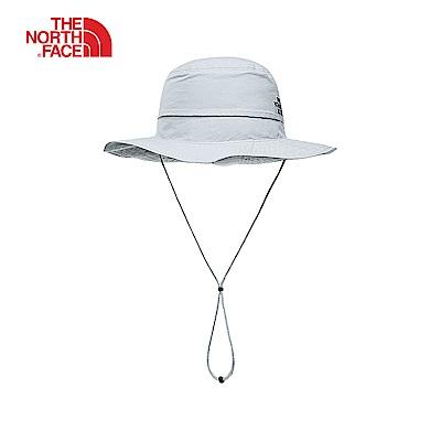 The North Face北面男女款灰白色吸濕排汗遮陽帽|CF7TA0M