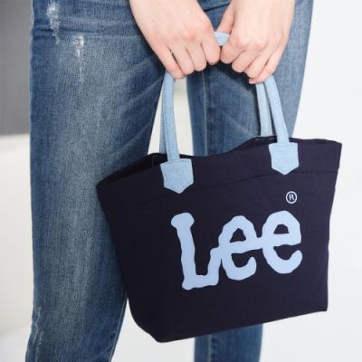 Lee LOGO印花小手提袋-藍色