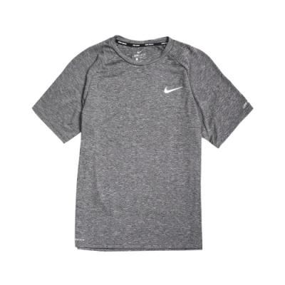 Nike T恤 Heather Hydroguard 男款 運動休閒 短T 基本款 圓領 穿搭 防曬衣 灰 白 NESSA589001