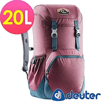 【ATUNAS 歐都納】德國DEUTER WALKER休閒旅遊背包3810617紫/深藍