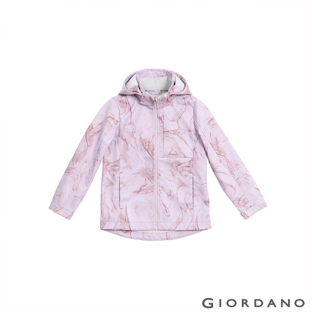 GIORDANO 童裝高機能可拆式連帽外套 - 18 白/粉