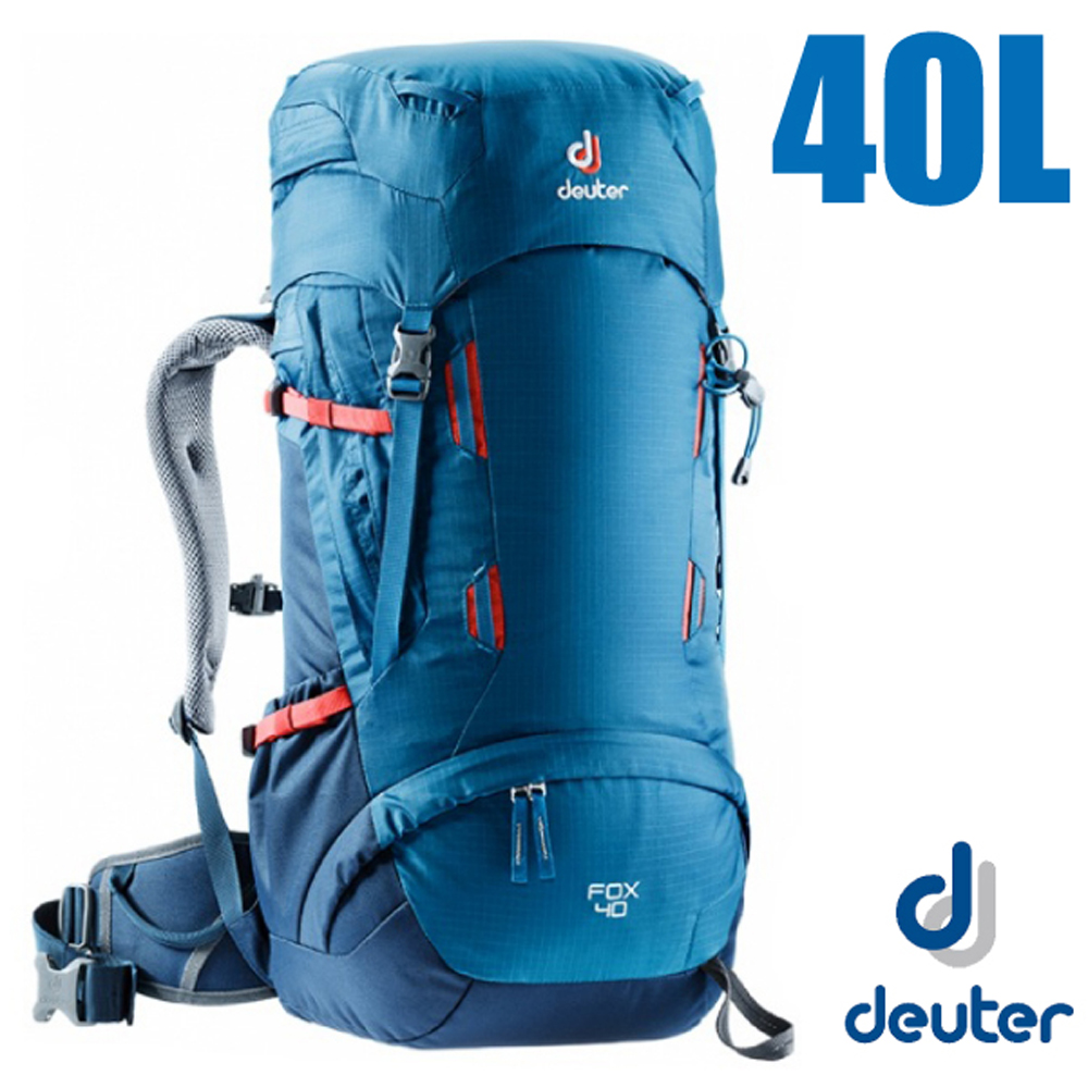 德國 Deuter Fox 40+4L 專業輕量拔熱透氣背包_藍/深藍