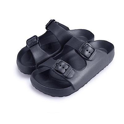 BuyGlasses 輕量造型防水兒童拖鞋-黑