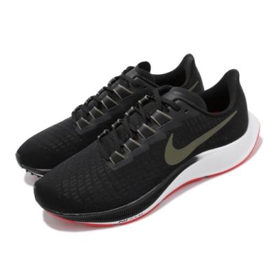 Nike 慢跑鞋 Zoom Pegasus 37 運動 男鞋 氣墊 避震 舒適 路跑 健身 小飛馬 黑 白 BQ9646004