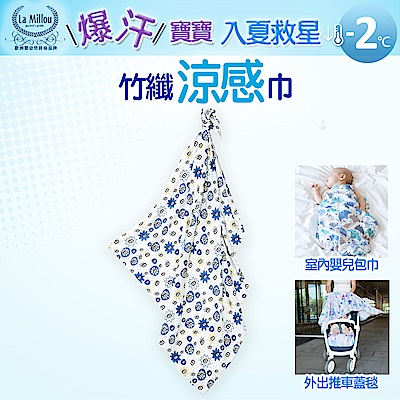 【La Millou】嬰兒包巾_竹纖涼感巾-眨眼時尚
