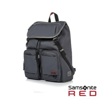 【5/1~5/25 10:00 限定 買就送500超贈點】Samsonite RED ARLON 時尚潮流翻蓋筆電後背包15.6(兩色可選)