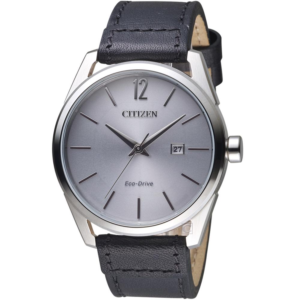 星辰 CITIZEN 極簡時尚光動能腕錶(BM7411-16A)-銀色