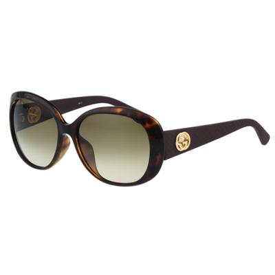GUCCI-菱格系列 太陽眼鏡(琥珀色)
