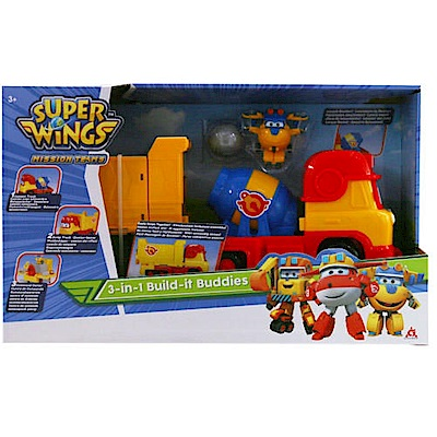 任選Super Wings 3合一工程車基地組 AL37406 超級飛俠