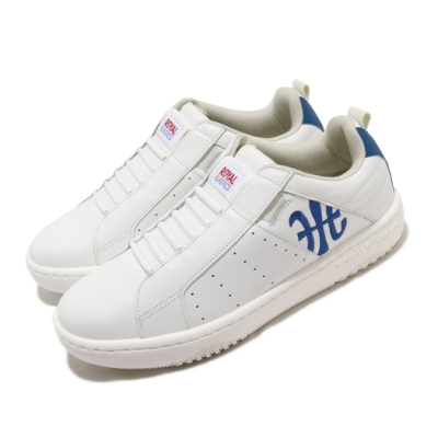 Royal Elastics 休閒鞋 Icon Manhood 2 男鞋 套腳 簡約 輕便 舒適 皮革 穿搭 白 藍 06502005
