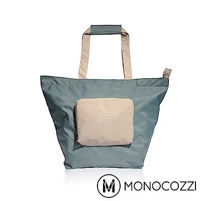 MONOCOZZI Bon Voyage 旅行折疊手提肩背包(S) - 灰藍